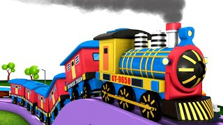 Choo Choo Train Carton Videos for kids | Toy Factory Cartoon