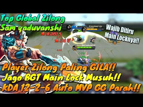 Player Zilong Paling GILAA!! - Jago BGT Main Lock Hero Musuh!! WAJIB DITIRU!! - Mobile Legends