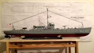 Sc-1 Class Sub Chaser    Rc Boat, Kit From Dumas