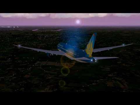 Xplane 10, Ho Chi Minh City, Landing 25L, Realtime weather from NOAA Weather, Ventrua Sky, Skymax