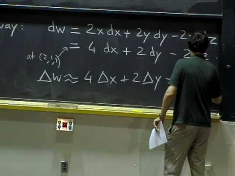 Lec 12 | MIT 18.02 Multivariable Calculus, Fall 2007