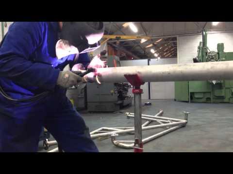 "Tig welding 3"" schedule 10 316L pipe"