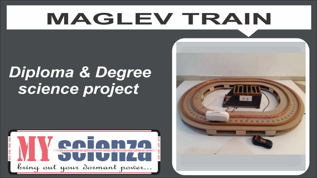 how to make maglev train science project