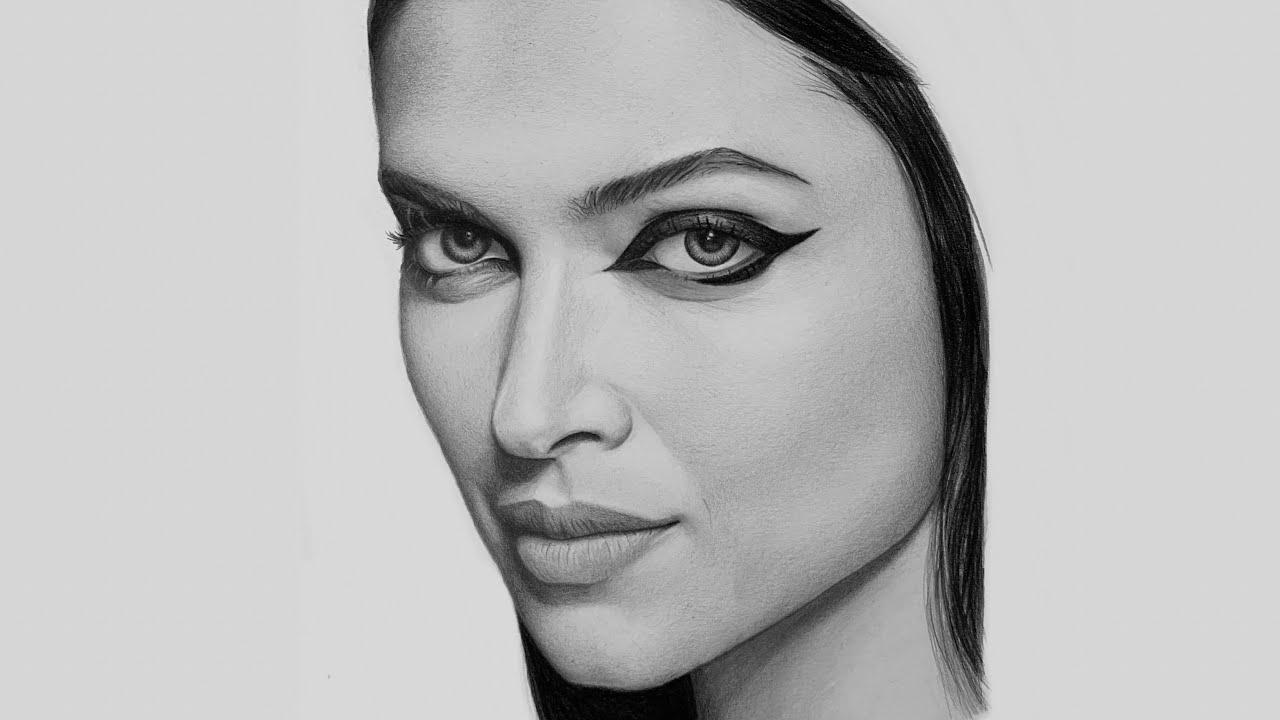 Drawing Deepika Padukone, Pencil Drawing Time-lapse