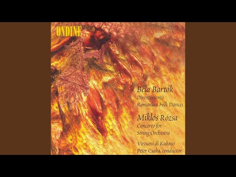 Roman nepi tancok (Romanian Folk Dances) , BB 68 (arr. A. Willner) : III. Pe loc (In one spot)