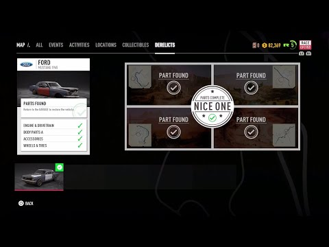 Need For Speed Payback : Discover Ford Mustang 1965 (ALL PARTS)