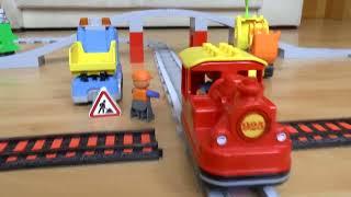 Поезда мультики про машинки игрушки и паровозики: Перекресток