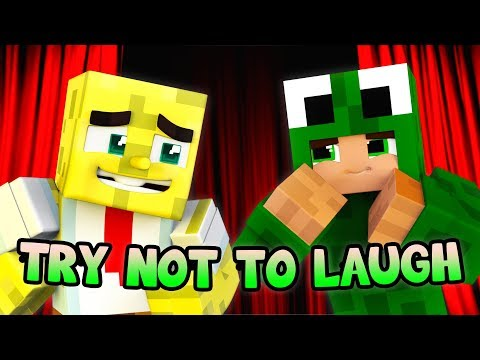 TRY NOT TO LAUGH CHALLENGE MINECRAFT W/ Tiny Turtle & Ropo