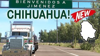 CHIHUAHUA, primer viaje rumbo a Jimenez con Peterbilt 389 | Mapa de Mexico | ATS