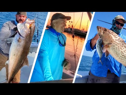 Offshore Fishing For Amberjack On A Freeman 34 VH