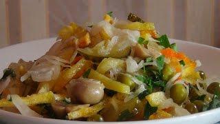 Салат закусочный-очень простая и вкусная постная закуска (Vegetable salad)