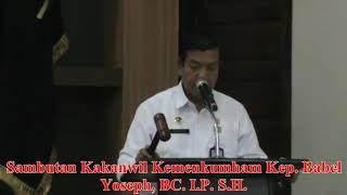 Video Kegiatan Kantor Wilayah Kementerian Hukum dan HAM Kepulauan Bangka Belitung TW II