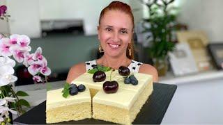 МОЛОЧНЫЙ ТОРТ ПИРОЖНОЕ Три молока тает во рту очень нежный и вкусный Люда Изи Кук milk cake recipe