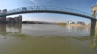 15 miles of the Ohio River in time lapse