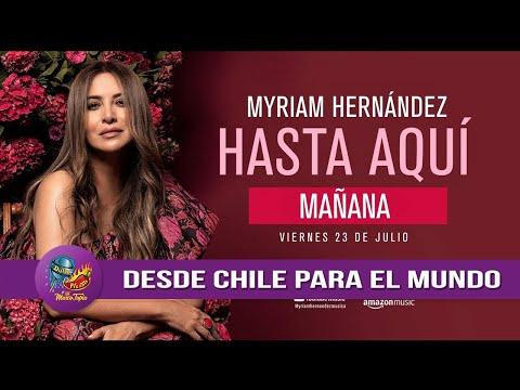 Myriam Hernández sencillo 'Hasta Aquí' su energía y carisma en su nuevo álbum 'Sinergia' 2021