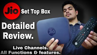 Jio Set top box detailed REVIEW (HINDI) | JIO live channels | JIO set top box functions & features