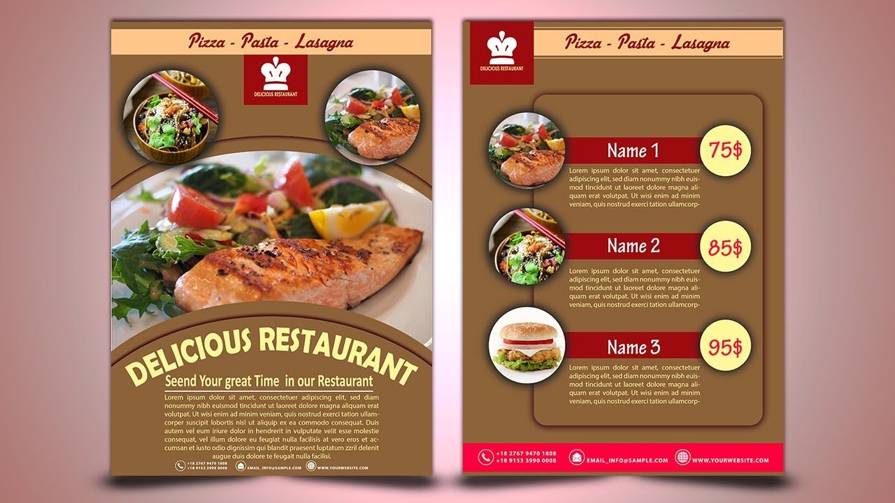 create restaurant flyer photoshop cc 2017 tutorial