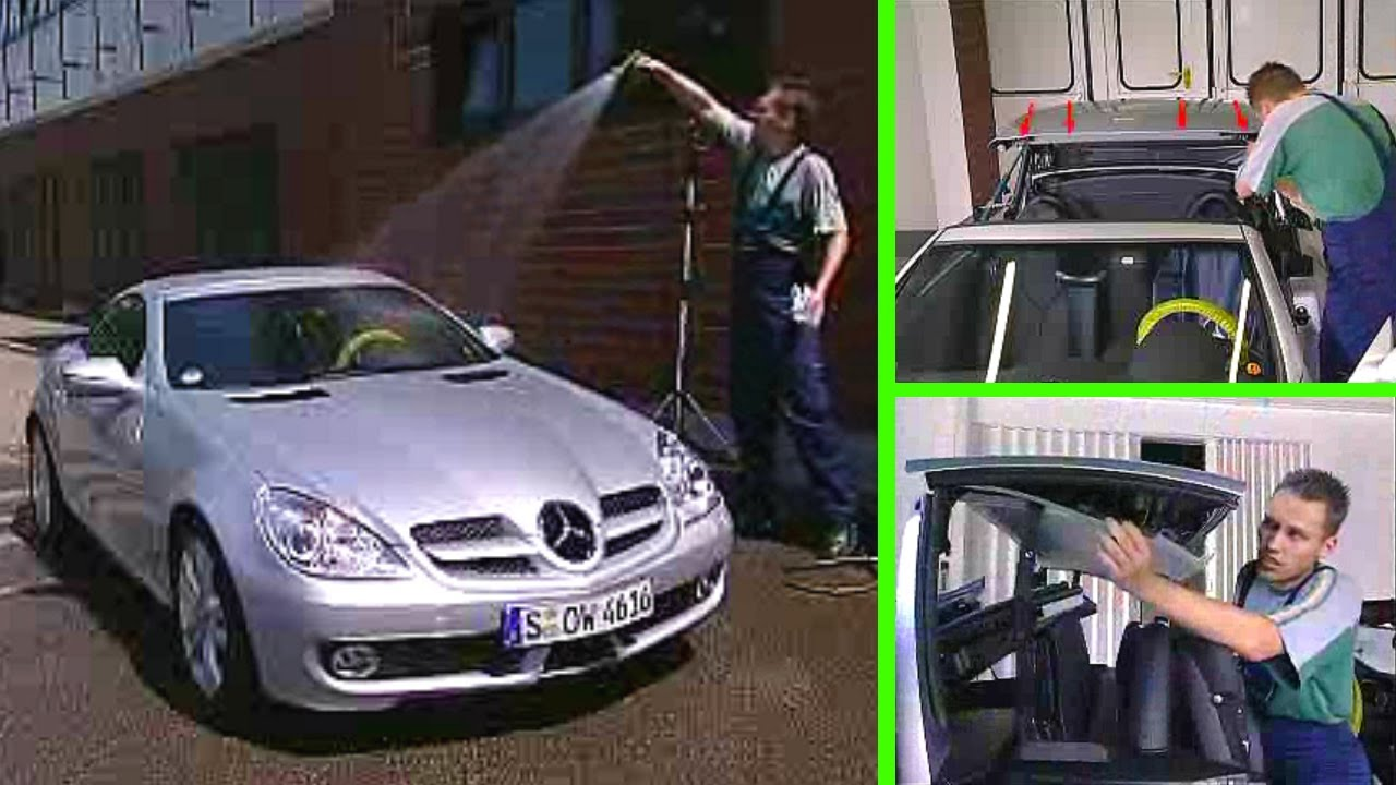 Mercedes Benz Slk The Vario Roof Of The Slk Is Leaky Water Penetration At Joint 1 2 R171 Youtube