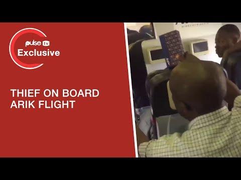 Thief Caught On Arik Flight From Lagos To Abuja This Morning  - Pulse TV