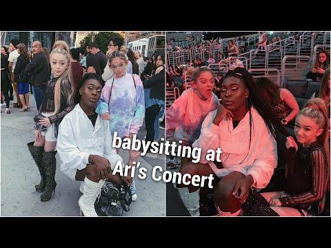 Babysitting Emery & Sarah at Ariana's concert