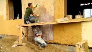 штукатурка домов из соломы. Домик74(, 2015-10-27T06:21:07.000Z)