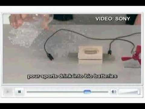Sony runs Walkman on sugar battery