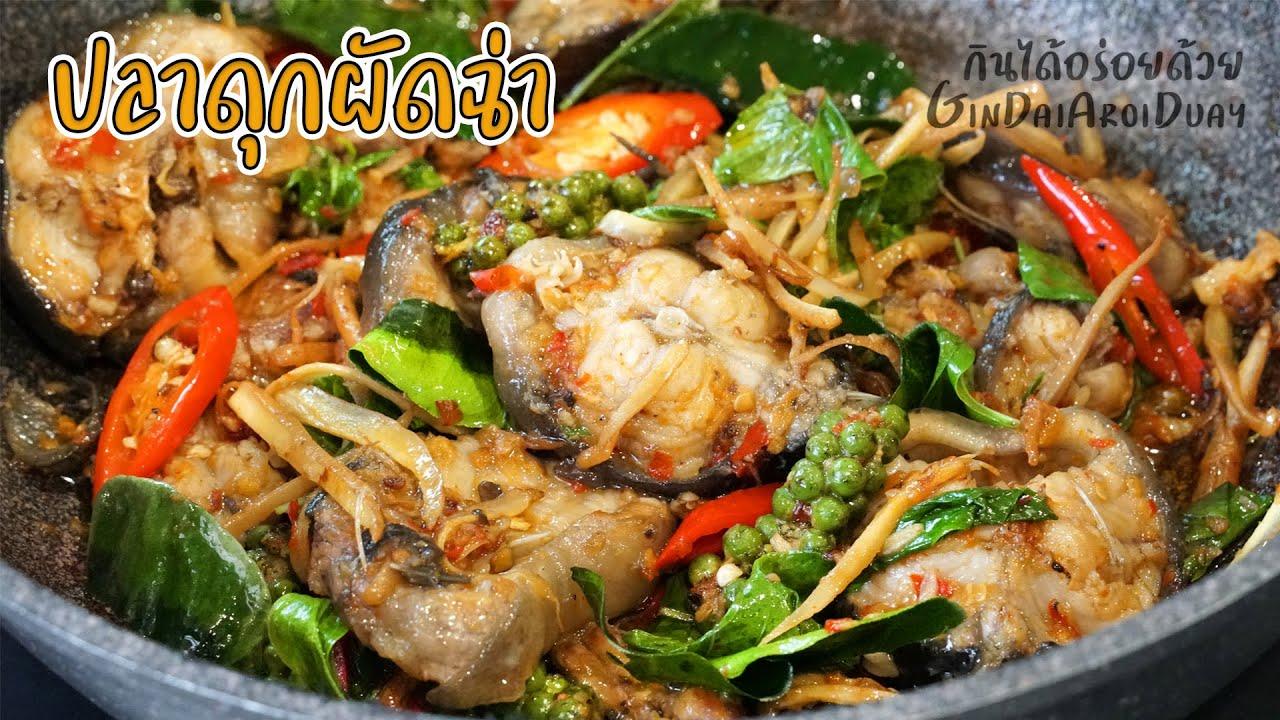ปลาดุกผัดฉ่า พร้อมวิธีล้างปลาดุกให้หมดคาว Thai spicy catfish recipe l กินได้อร่อยด้วย