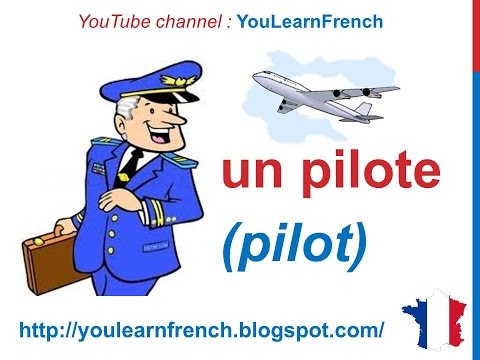 French Lesson 103 - Jobs Professions Occupations in French - Les métiers Oficios y profesiones