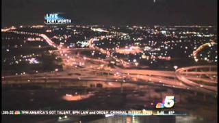 UFO spotted in LIVE NBC News SkyCam at Fort Worth, TX [ORIGINAL]
