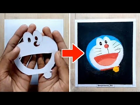 How to draw Doraemon the  robot cat #shorts