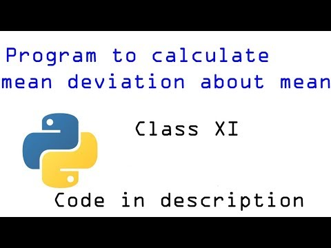 My first python program  Calculate mean deviation about mean code Python tutorial in Hindi #1 thumbnail