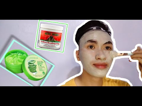 healing-clay-mask-|-soothing-gel-|-skin-care-routine-part-1-|-bisaya-vlog