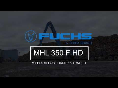 Terex Fuchs MHL 350 F HD (Heavy Duty) Millyard Loader And Trailer