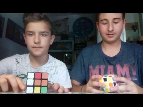 Gp Cuber vs Κώστας.Λύση του κύβου Ρούμπικ 3x3