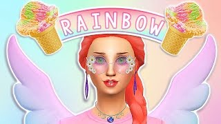 The Sims 4 Create A Sim: Rainbow Sherbet ✧˖