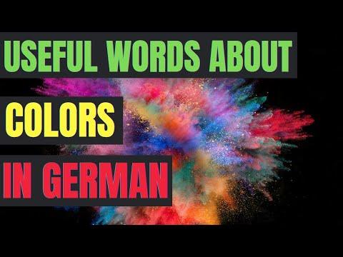 Learn german easy - Colors / Farben