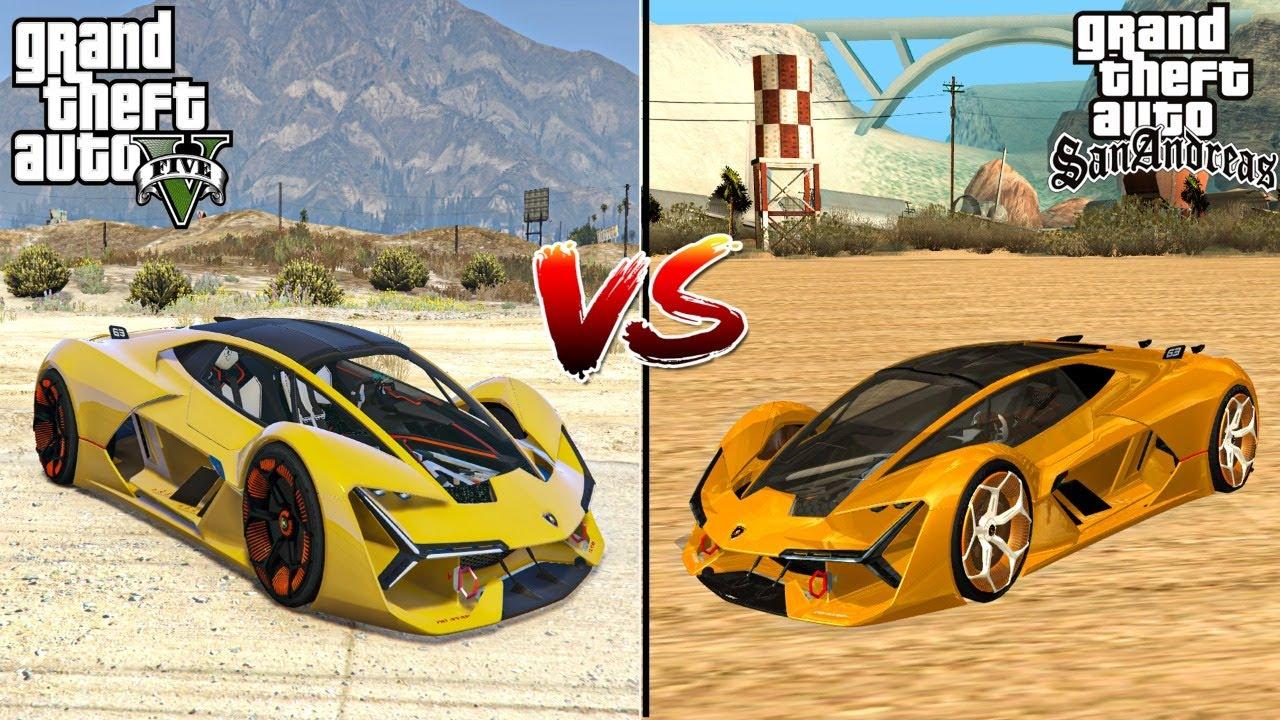 GTA 5 LAMBORGHINI TERZO VS GTA SAN ANDREAS LAMBORGHINI TERZO - WHICH IS BEST?