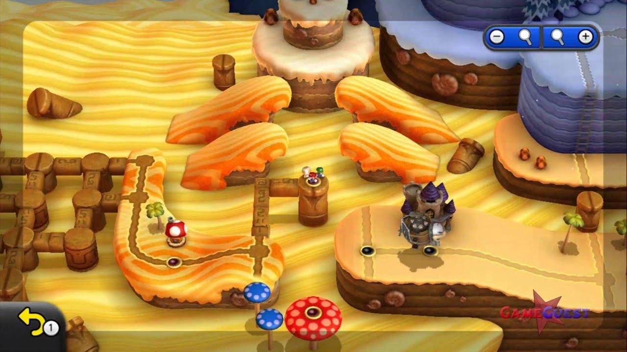 New Super Mario Bros U Secret Level Layer Cake Desert