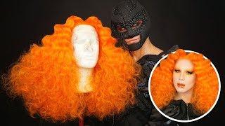 WIG TRANSFORMATION W/ MR VILLBERG - Big Orange Wig Tutorial