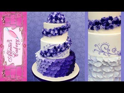 purple-petal-wedding-cake