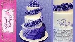 Purple Petal Wedding Cake