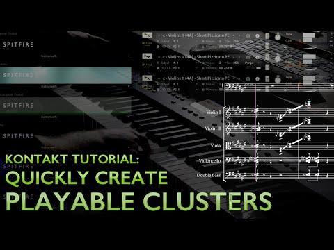 Easily Create Playable Clusters in Kontakt