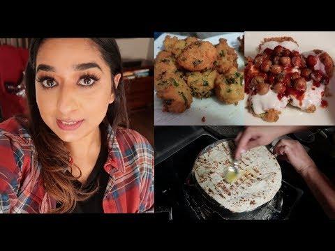 Chana Daal Vada (Bhalla) Chat    Rumali Roti   Indian Mom Vlogger