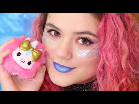 Glittery Holiday Makeup Tutorial! Mystery Beauty Boxes with Cheeki Puffs by Moose Toys!