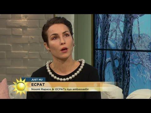 """Noomi Rapace: """"Det gör skillnad om man bara vågar berätta"""" - Nyhetsmorgon (TV4)"""