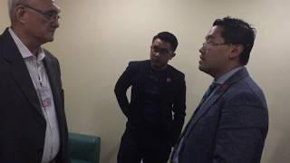 Frat officer Arvin Balag led to detention facility | Oct. 18, 2017