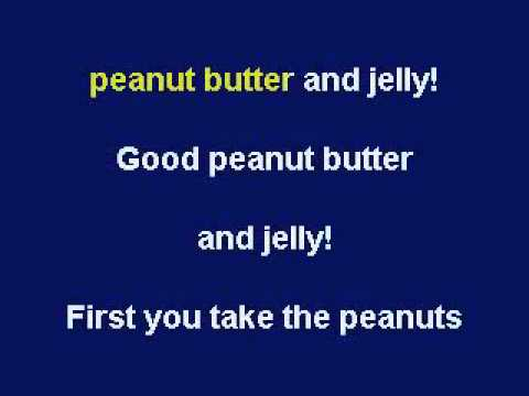 Peanut Butter & Jelly, Karaoke video with lyrics, with demo singer