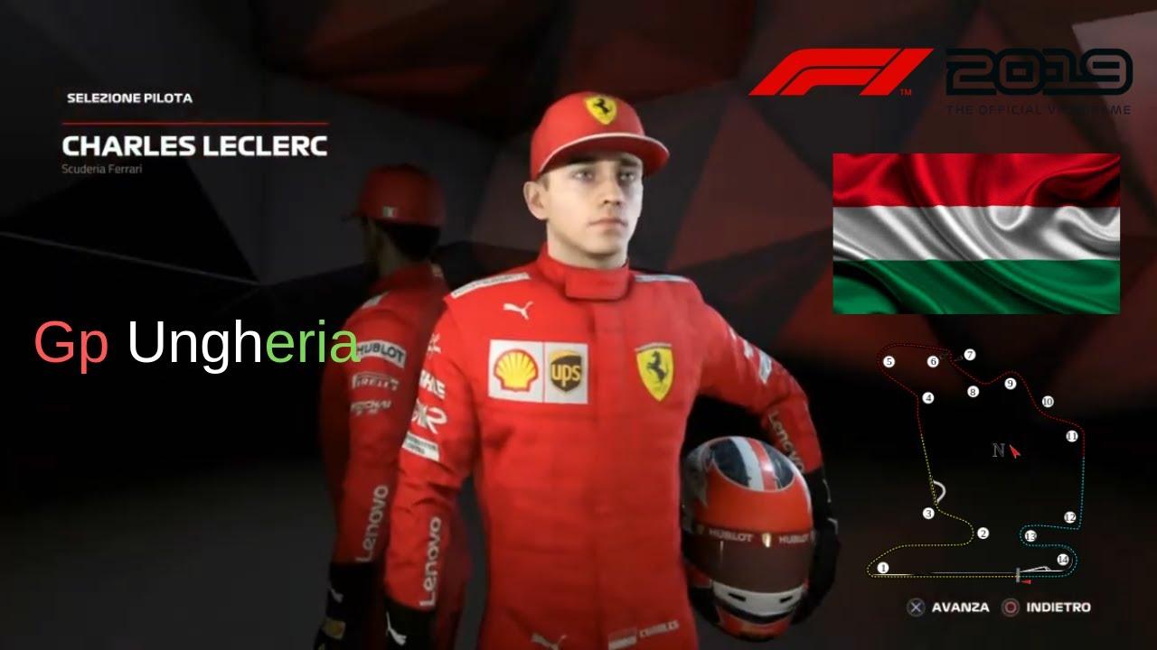 Leclerc | F1 2019-Gp Ungheria-Gameplay-ITA-PS4 - YouTube