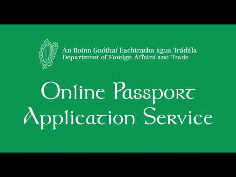 Online Passport Application Demonstration