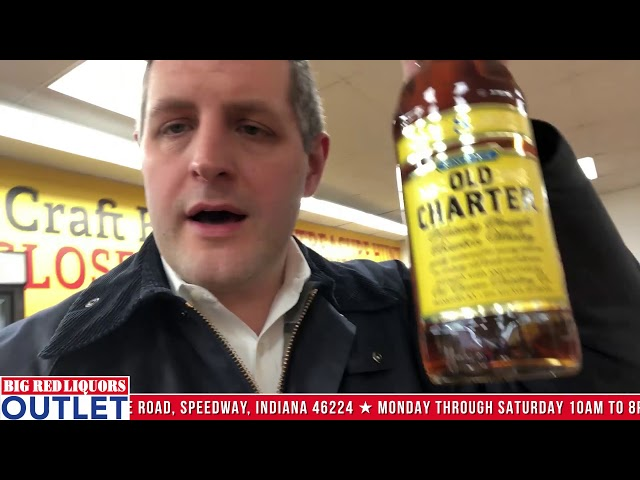 Old Charter Whiskey at the Big Red Liquors Outlet Store in Speedway Indiana